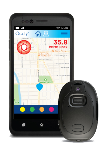 preview occly bodycam, mobile safety app, wearable personal safety device
