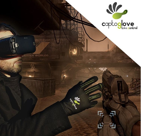 preview captoglove first ever wireless wearable gaming motion controller
